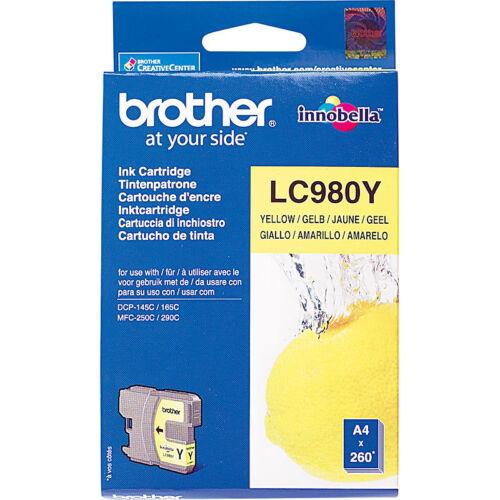 yellow Brother Original Tintenpatrone LC980Y
