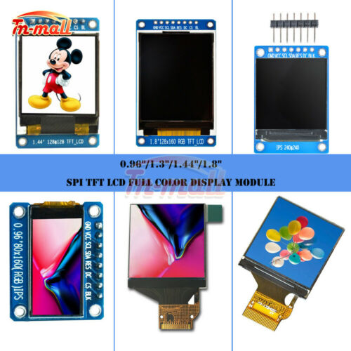0.96//1.3//1.44//1.8 Inch SPI TFT LCD Full Color Display Module ST7789 OLED Screen