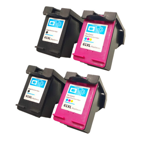 4Pack High Quality For HP 61XL 2*Black//2*Tri-Color Ink Cartridge CH563WN CH564WN