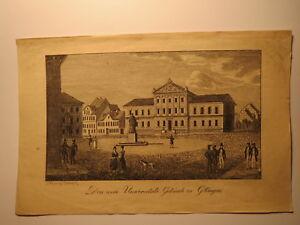 Göttingen Université-livret De Famille Feuille Wiederhold 1847 E. Nordhoff De Damme-afficher Le Titre D'origine