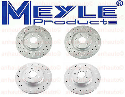 Meyle Front and Rear Disc Brake Rotors Kit For Mercedes W211 E55 AMG 2003-2006