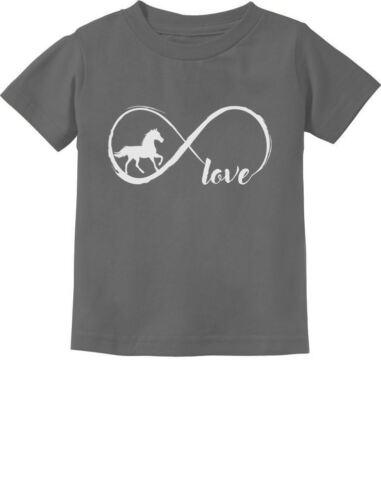 Gift For Horse Lovers Infinite Love Toddler Kids T-Shirt Infinity Symbol