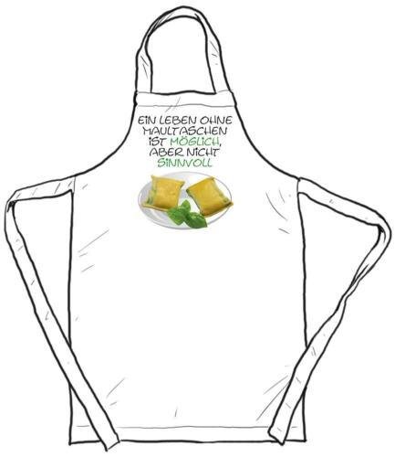 """Funny Apron /""""a life without foot pockets is possible but no sense/"""""""