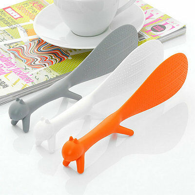 1pc Kitchen Squirrel Shape Rice Paddle Scoop Spoon Ladle Novelty New FE