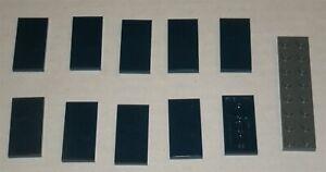 LEGO-NEW-2x4-Dark-Blue-Tile-10x-4569836-Brick-87079