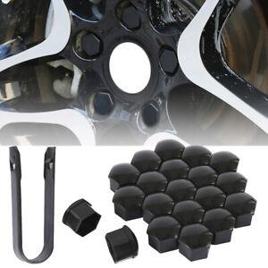 21x-ecrou-de-roue-couvre-boulons-pour-Audi-VW-Bmw-Mercedes-Renault-17mm-noir-BM