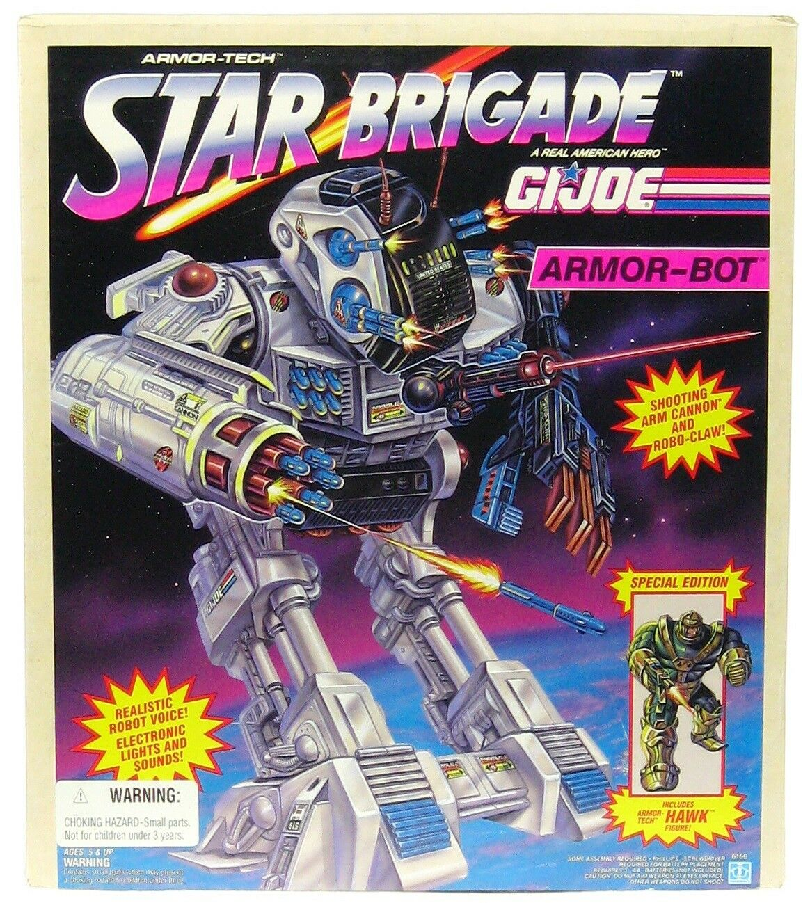Vintage hasbro gi joe star brigade elektronische rüstung bot - fabrik versiegelt misb