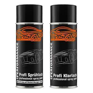 Autolack-Spraydosen-Set-Trabant-1619-Delphingrau-Basislack-Klarlack-Spruehdose