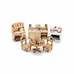 Calico Critters Deluxe Kitchen Set Includes Over 40 Accessories Ebay