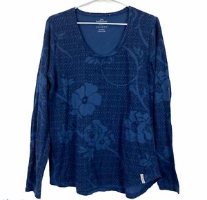 Kathmandu-Enact-Womens-Blue-Floral-Long-Sleeve-Shirt-Size-14