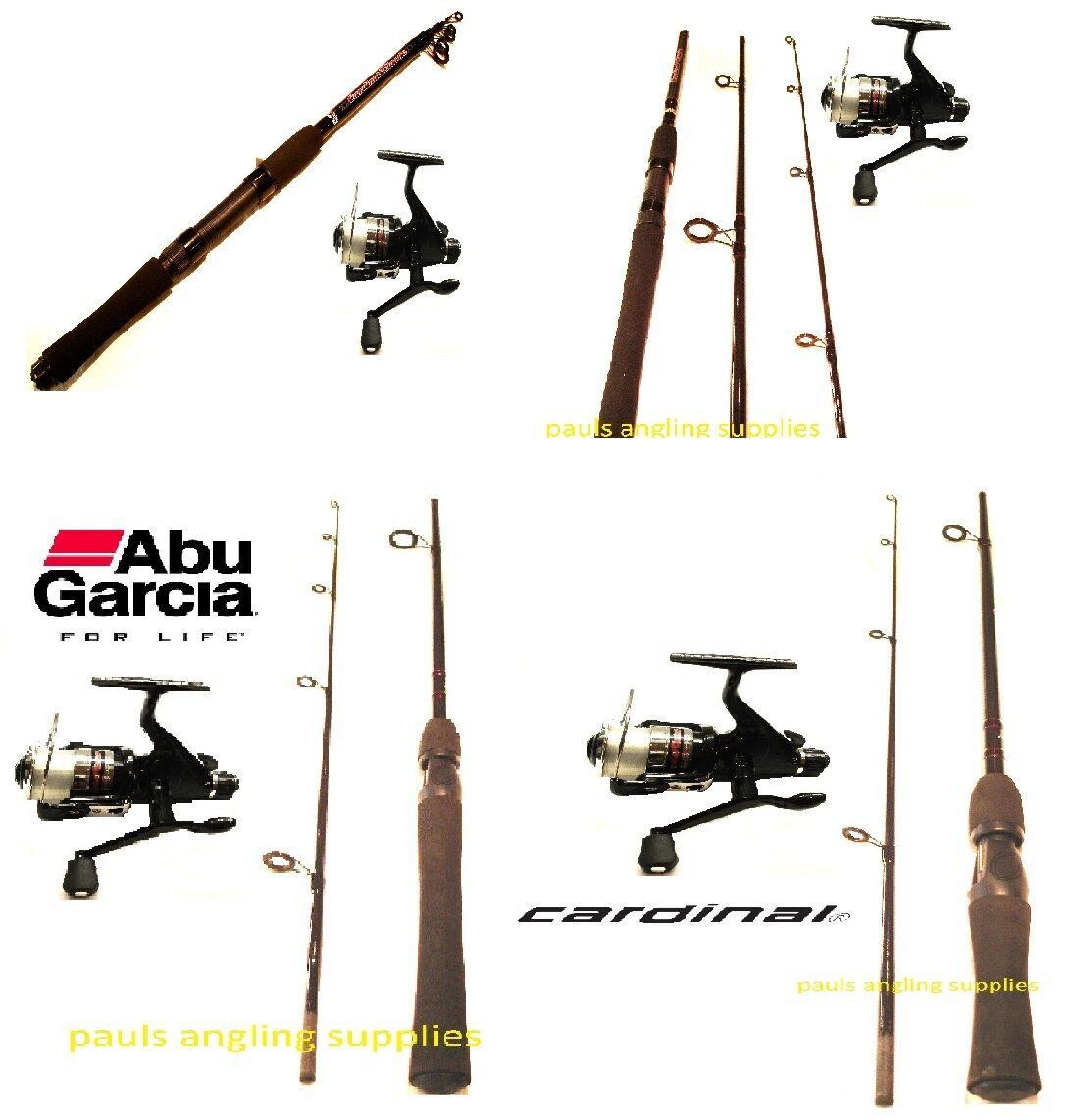 Abu Garcia Spin   Spinning Kit Rod Reel  Choice of rods and Reels