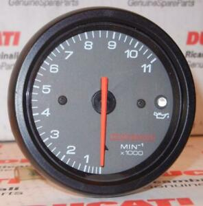 1998-2002-Ducati-ST2-Monster-ETC-tachometer-11-000-RPM-white-numbers-logo-G