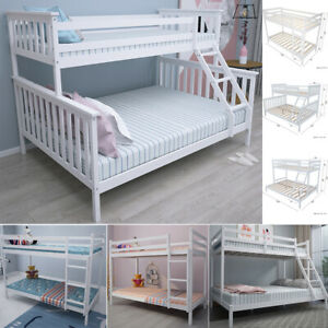 Details About Triple Bunk Beds Cabin Bed Double U0026 Single Bed Frame High  Sleeper Children Kids