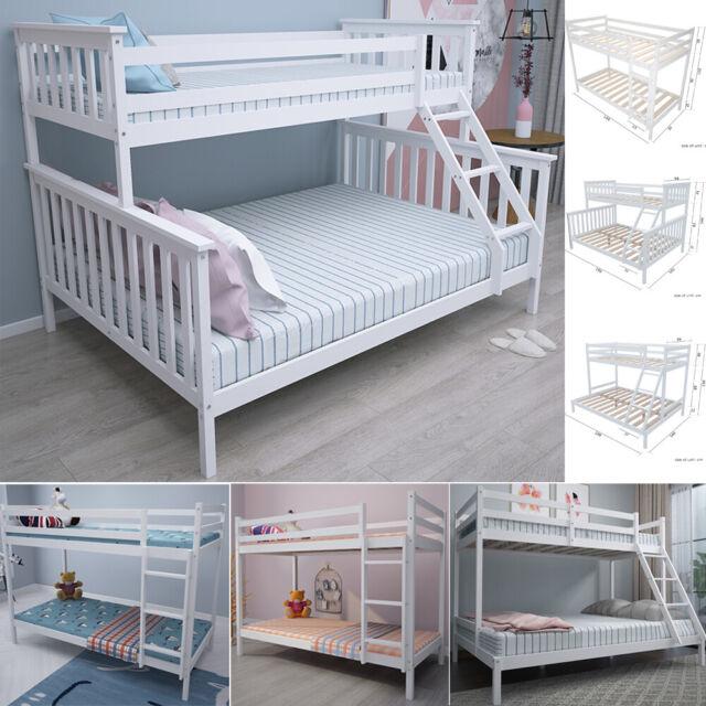 Children Bunk Bed Frame Solid Wooden