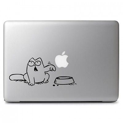CAT Hunger Aufkleber MacBook Air Pro Sticker Decal Apple 12