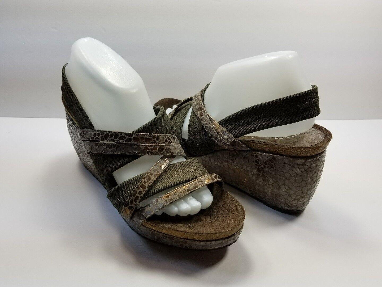Donald J. Pliner para Mujer Marrón verde Sandalias De Tiras Cuña de plataforma-M