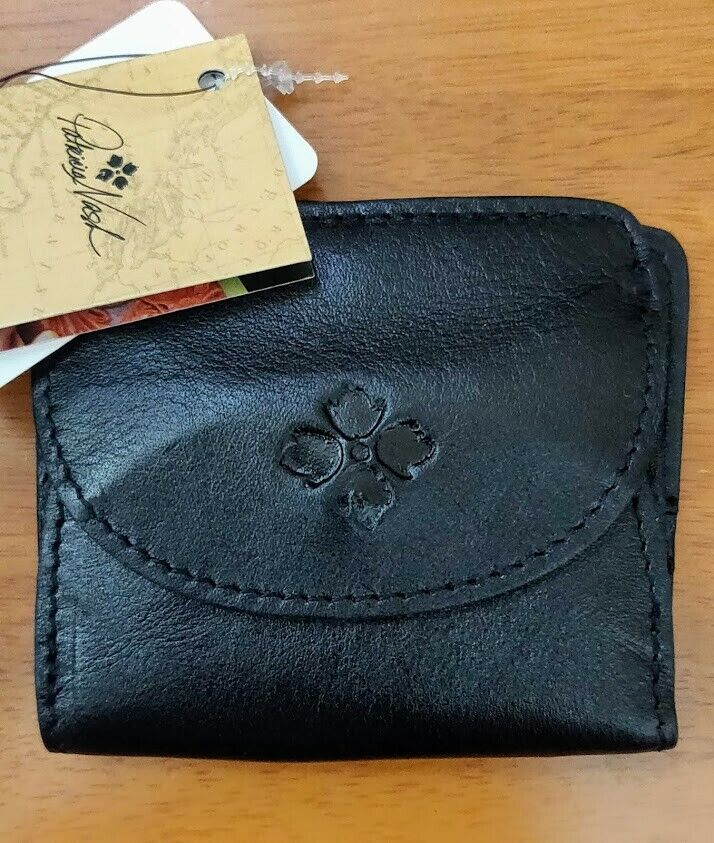 Patricia Nash Black Canelli Leather Coin Wallet with RFID Protection NWT