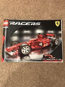 Lego Racers 8386 Ferrari F1 Racer 1:10 Extrêmement Rare Pièces Scellées Dans Une Boîte