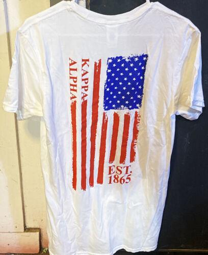 Kappa Alpha Fraternity American Flag Shirt-Size Medium New!