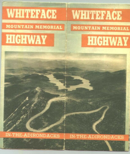 1930s Whiteface Mountain, Adironadack Mountains, New York Map and Brochure