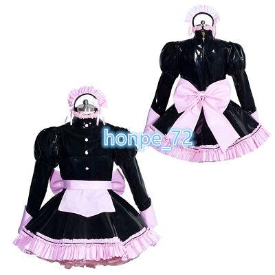 Sissy Maid PVC Dress vinyl uniform unisex Tailor-made!Free shipping