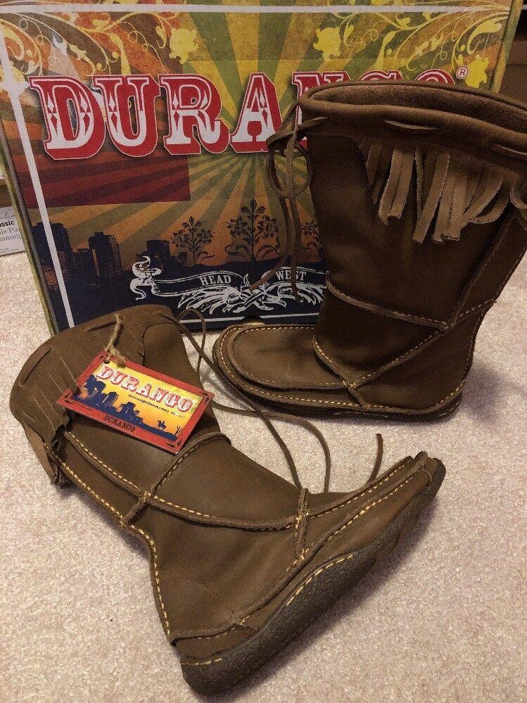 Durango Santa Fe RD066 Bronceado Mocasín botas botas botas flecos occidental de cuero para mujer Talla 6  Para tu estilo de juego a los precios más baratos.