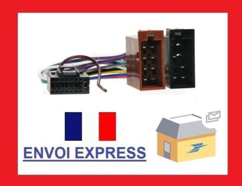KENWOOD Câble D/'AutorADio Radio Voiture Connecteur//Fiche DIN Adaptateur ISO 16