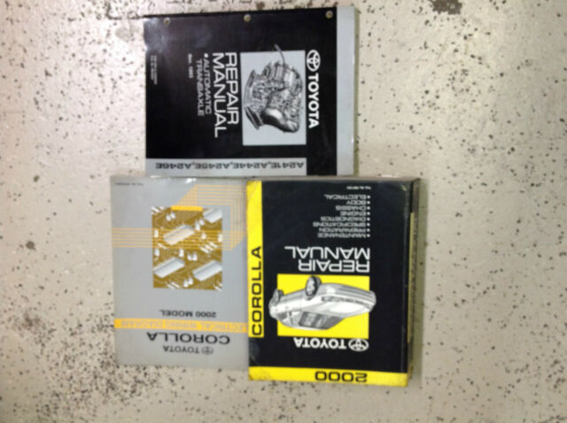 2000 Toyota Corolla Service Repair Shop Manual Set Oem W Ewd  U0026 Transaxle Factory