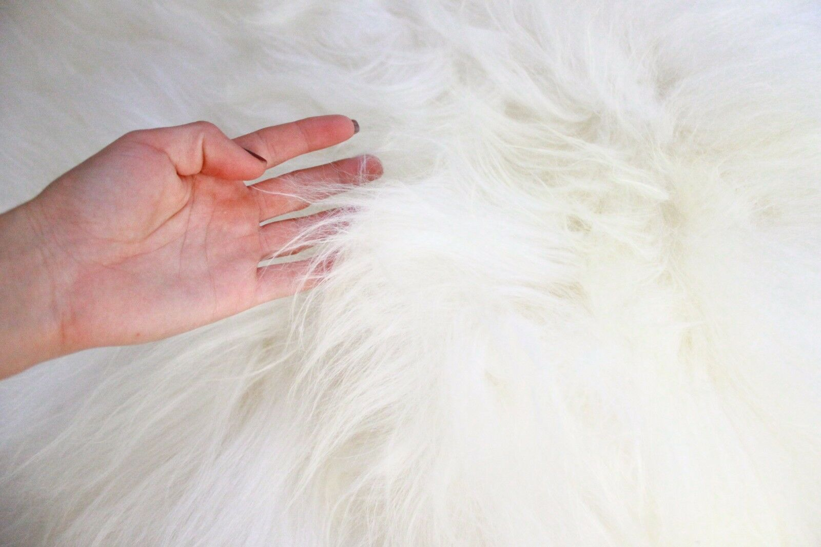 Genuine Natural LARGE XL Icelandic Icelandic Icelandic Sheepskin Rug, Pelt, long fur  Weiß 407ee5