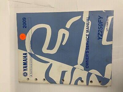 2009 Yamaha Yz250f Y Oem Owner S Service Manual Lit 11626 22 56 Yz 250f Ebay