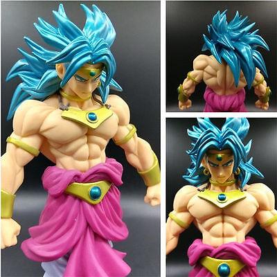 "7/"" Dragon Ball Z SC Tenkaichi  Broly Action Figure Blue Hair Super Saiyan PVC"