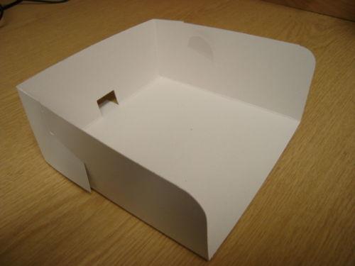 WST001//2 # White Swedish Cake Box Trays-Scoop x 500 Large or Small size