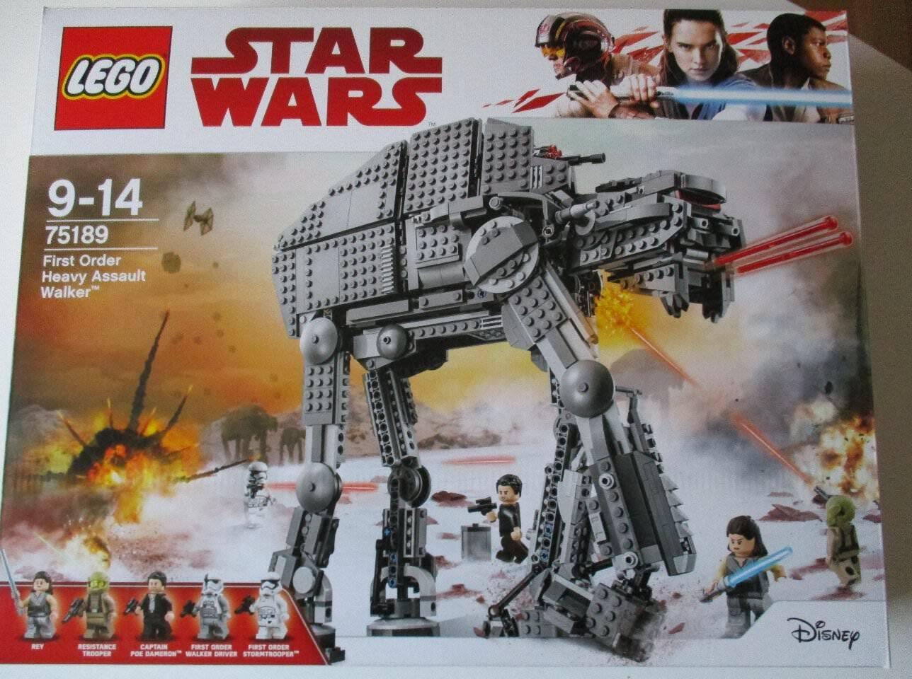 Lego Star  Wars 75189 First Order Heavy Assault Walker Nouveau neuf dans sa boîte  le moins cher