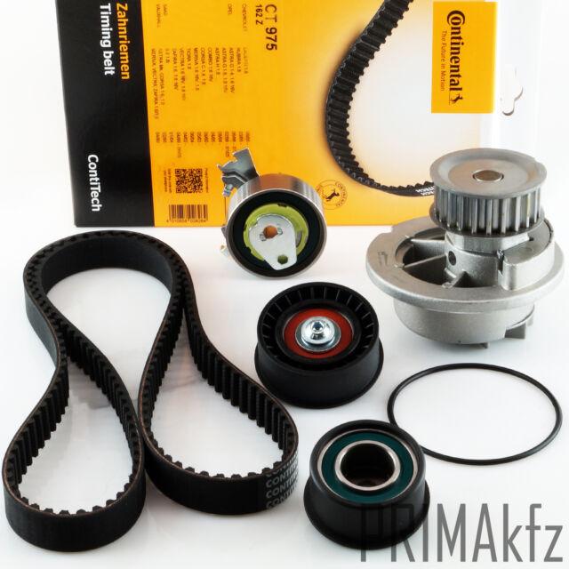 CONTI CT975 Zahnriemen + Rollen Wasserpumpe Opel Astra Zafira Vectra 1.4 1.6 16V