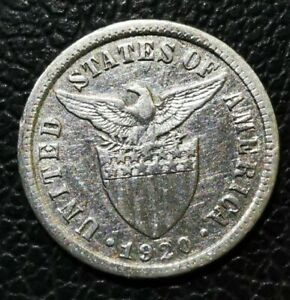 US-PHILIPPINES USPI 21: 1920 10 CENTAVOS