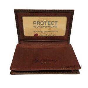 Osgoode Marley RFID Leather Mens ID Card Case Wallet Bifold w// ID window 1220