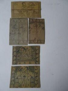 5 antike indische erotische Malerie auf Bambustäfelchen Kamasutra