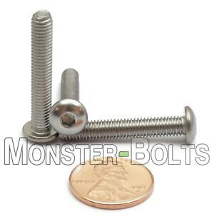 5mm x 0.8 M5 Stainless Steel Button Head Socket Cap Screws ISO 7380 A2 18-8