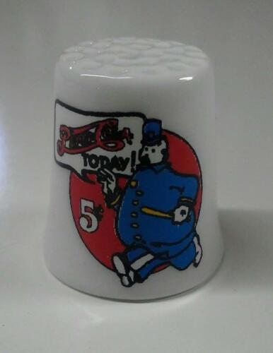 Up4Bid Pepsi Cola Cop Pete Collectible Porcelain Thimble