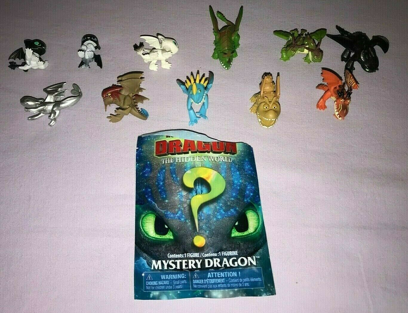 HOW to TRAIN YOUR DRAGON THE HIDDEN WORLD MYSTERY MINI DRAGONS LOT OF 11 NEW
