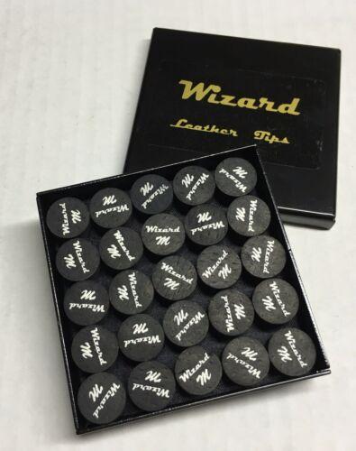 1 Tip Wizard Black Medium Pool Cue Tips 14mm