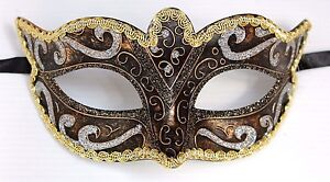 SILVER-BLACK-BRONZE-amp-GOLD-STUNNING-VENETIAN-MASQUERADE-PARTY-EYE-MASK-BNWT
