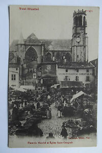 09A51-Antique-CPA-Postcard-Toul-Demonstrates-473-Place-of-the-Marche-and
