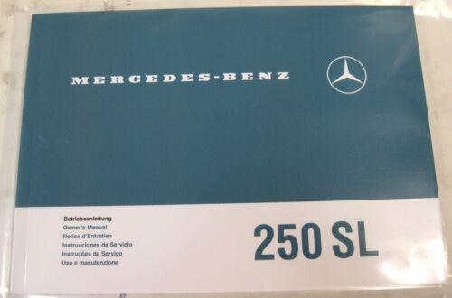 Original Betriebsanleitung Mercedes-Benz W113 250SL Pagode mehrsprachig NEU