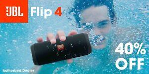 JBL-Flip-4-Waterproof-Portable-Bluetooth-Speaker-Black-Authorized-Dealer