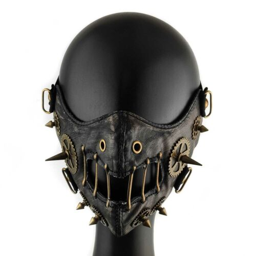 Men/Women Steampunk Retro Gothic Leather Mask Cosplay Gears Mask
