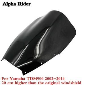 FOR-YAMAHA-TDM-900-2002-2014-WINDSHIELD-WINDSCREEN-20CM-Heightening-SCREEN-BLACK