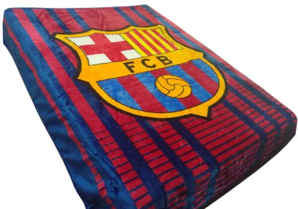 Fc Barcelona Cloud Soft Queen Blanket Official Licensed