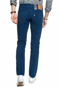 Levi S 511 Slim Urdimbre Stretch Azul Marino Para Hombres Pantalones Pantalones De Pana 34 X 32 Ebay