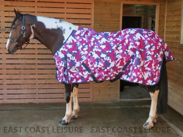 LIGHTWEIGHT TURNOUT HORSE & PONY RUG NO FILL STANDARD NECK